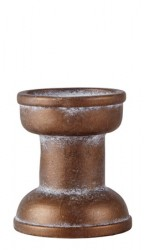 KJ Collection Lysestage - Cement - Bronze - D 9,5cm - H 11,0cm - Stk.