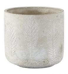 KJ Collection Skjuler - m. mønster - Cement - Grå - D 13,0cm - H 12,0cm - Stk.