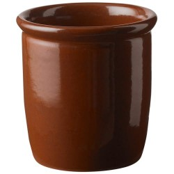 Knabstrup Keramik syltekrukke - Brun - 0,5 l
