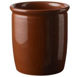 Knabstrup Keramik syltekrukke - Brun - 1 l