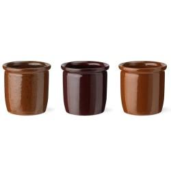 Knabstrup Keramik syltekrukker - 3 stk. à 0,3 l