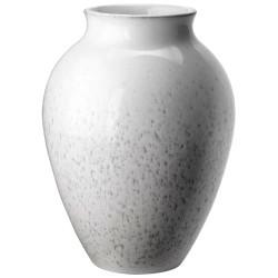 Knabstrup Keramik vase - Hvid & grå