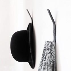 Knager i sort læder - 2 stk.