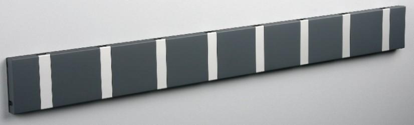 KNAX Knagerække - Antracit - 8 aluknager