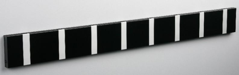 KNAX knagerække - Sort - 8 aluknager