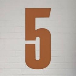 Kobber husnummer 40 cm - 5