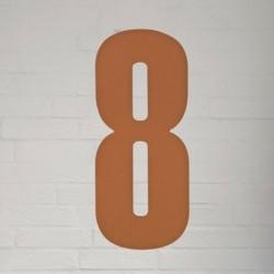 Kobber husnummer 40 cm - 8
