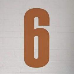 Kobber husnummer 40 cm - 6