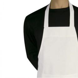 Kokke forklæde m. smæk, hvidt. Chaud Devant