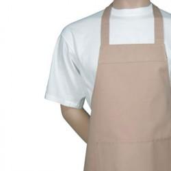 Kokke forklæde m. smæk, sand. Chaud Devant