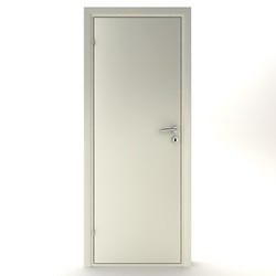 Kompakt dør glat 82,5 x 184 cm. - hvid