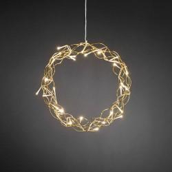 Konstsmide krans med LED lys - Guldfarvet