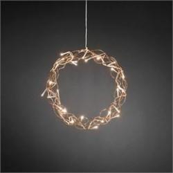 Konstsmide krans med LED lys - Kobberfarvet