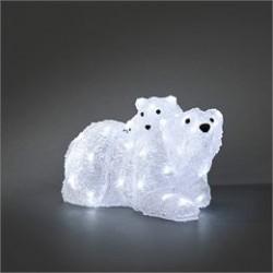 Konstsmide LED-isbjørn med unge