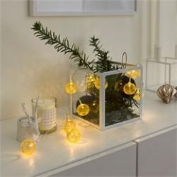 Konstsmide LED-lyskæde med 10 guldkulger