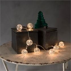 Konstsmide LED-lyskæde med 10 sølvkulger