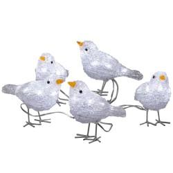 Konstsmide LED-lyskæde med 5 fugle