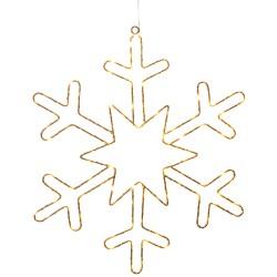Konstsmide snefnug med LED-lys - Guldfarvet