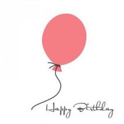 Kort & Plakat Happy Birthday Dobbeltkort Lyserød