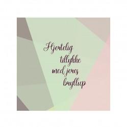 Kort & Plakat Hjertelig Tillykke Med Jeres Bryllup Dobbeltkort
