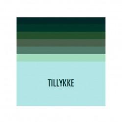 Kort & Plakat Tillykke Dobbeltkort Grøn