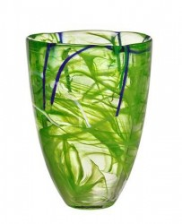 Kosta Boda Contrast Lime Vase 20 cm