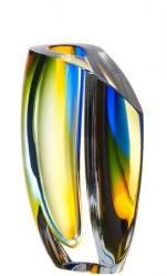 Kosta Boda Mirage Blå/Rav Vase 21 cm