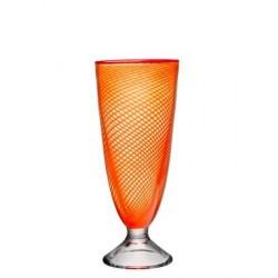 Kosta Boda Red Rim Orange Vase 26 cm