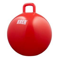 KREA hoppebold - Rød - Inkl. pumpe