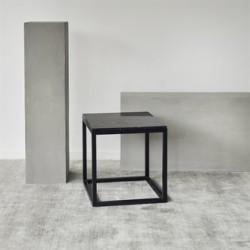 Kristina Dam Cube bord i sort marmor/sort eg - flere størrelser