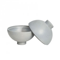 Kristina Dam Wooden Sphere Bowl Grey