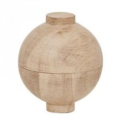 Kristina Dam Wooden Sphere Bowl Natural