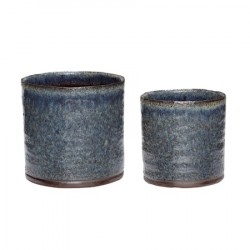 Krukke Keramik Lilla/Grøn 2-pak