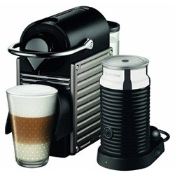 Krups Nespresso PIXIE + Aeroccino freestanding Semi-auto Pod coffee machine 0.7L Beige,Silver