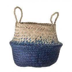 Kurv Seagrass Blue Ø30 cm
