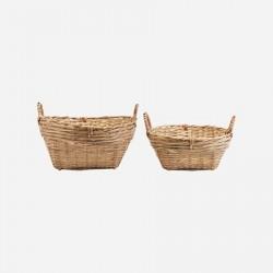 Kurvesæt med 2 størrelser Bambus H20 cm & H15 cm