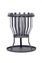 LA HACIENDA Alberta bålkurv - sort stål, rund (Ø43)