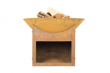 LA HACIENDA Fasa bålfad - rust støbejern og stål, rund (Ø56)