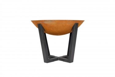 LA HACIENDA Icarus Medium bålfad - rust støbejern og stål, rund (Ø66)