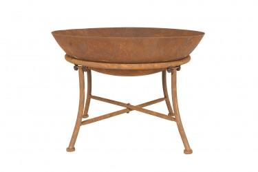 LA HACIENDA Karat bålfad - rust stål, rund (Ø60)