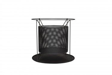LA HACIENDA Kora bålfad, sort stål, rund (Ø44)