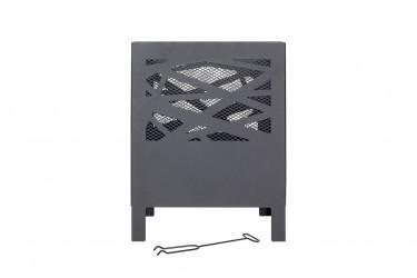 LA HACIENDA Minnesota bålkurv - sort stål, kvadratisk