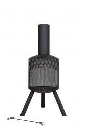 LA HACIENDA Santana udepejs - sort stål, rund (Ø40)