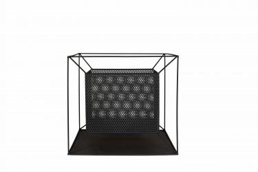 LA HACIENDA Taku bålfad - sort stål, kvadratisk