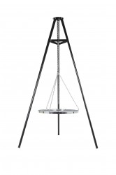 LA HACIENDA Tripod hængegrill - sort stål og krom (Ø65)