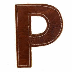 Læder bogstav - P