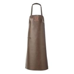 Læder forklæde i mørk brun - Witloft