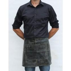 Læder forklæde i sort - Stuff Design