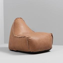 LÆder sÆkkestol (camel)