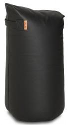 Læder Satellite skammel - H68 - Sort